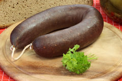 Homemade blood pudding Stock Photos