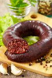 Homemade blood sausage Stock Photo