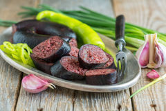Homemade blood sausage. Royalty Free Stock Photo