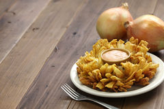 Homemade blooming onion. American food Royalty Free Stock Photos