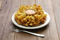 Homemade blooming onion. American food Royalty Free Stock Photo