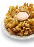 Homemade blooming onion isolated on white background Royalty Free Stock Images