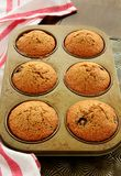 Homemade blueberry bran muffins Stock Images