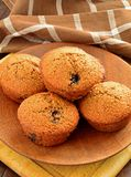 Homemade blueberry bran muffins Stock Photos