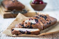 Homemade blueberry cake on kraft paper Royalty Free Stock Photo