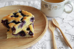 Homemade blueberry cake Stock Photography