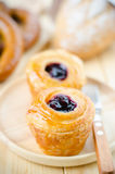 Homemade Blueberry Cruffins(Croissant and Muffin) Stock Photography