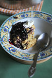 Homemade blueberry crumble Royalty Free Stock Image
