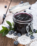 Homemade Blueberry Jam Stock Photography