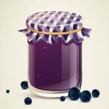 Homemade Blueberry Jam Stock Images