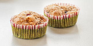 Homemade Blueberry Muffin for Christmas Royalty Free Stock Photo