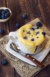 Homemade blueberry muffin mug cake Royalty Free Stock Images