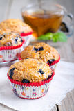 Homemade blueberry muffins Stock Photos
