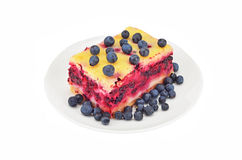 Homemade blueberry pie Stock Photography