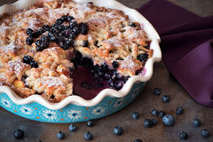 Homemade blueberry pie, crisp and juicy Royalty Free Stock Photo
