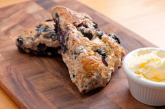 Homemade blueberry scones Stock Images