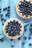 Homemade blueberry tart Stock Photography