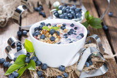 Homemade Blueberry Yogurt Stock Images