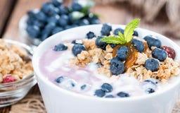 Homemade Blueberry Yogurt Royalty Free Stock Image