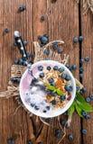Homemade Blueberry Yogurt Royalty Free Stock Photography