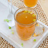 Homemade bone broth Stock Photo