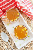 Homemade bone broth Stock Photography