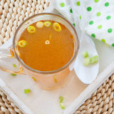 Homemade bone broth Royalty Free Stock Images