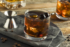 Homemade Boozy Coffee Old Fashioned Royalty Free Stock Photo