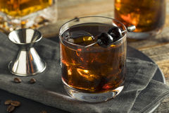 Homemade Boozy Coffee Old Fashioned Royalty Free Stock Photography