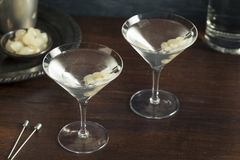 Homemade Boozy Gibson Martini. With Cocktail Onions Stock Image