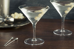 Homemade Boozy Gibson Martini. With Cocktail Onions Royalty Free Stock Image