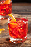 Homemade Boozy Negroni Cocktail Royalty Free Stock Images