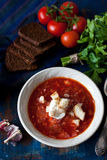 Homemade borscht Stock Photo