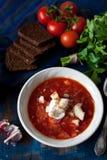 Homemade borscht Stock Photo