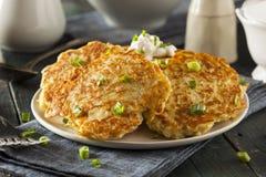 Homemade Boxty Irish Potato Pancakes. For Breakfast royalty free stock image
