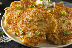 Homemade Boxty Irish Potato Pancakes Stock Photography