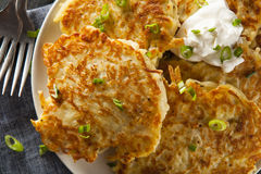 Homemade Boxty Irish Potato Pancakes Stock Image