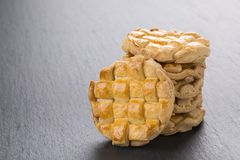 Homemade braided cookies stock photography
