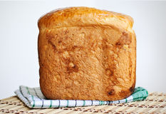 Homemade bread. Loaf of homemade bread on the table Stock Images