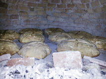 Homemade bread. Baked in a wood oven Stock Images