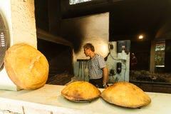 Homemade bread in the bakery Royalty Free Stock Photos