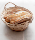 Homemade bread in basket Stock Photos