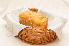 Homemade bread in a breadbasket Royalty Free Stock Photography