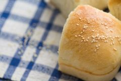 Homemade bread buns Stock Photo