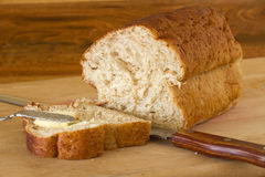 Homemade Bread and Butter Royalty Free Stock Images
