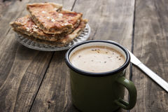 Homemade bread and coffee Royalty Free Stock Images