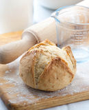 Homemade bread on a cutting board Royalty Free Stock Photo
