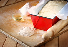 Homemade bread dough ready to rise Royalty Free Stock Image