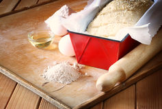 Homemade bread dough ready to rise Royalty Free Stock Photos