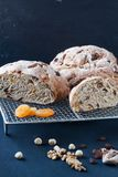 Homemade bread with dried fruis and nuts Stock Photo